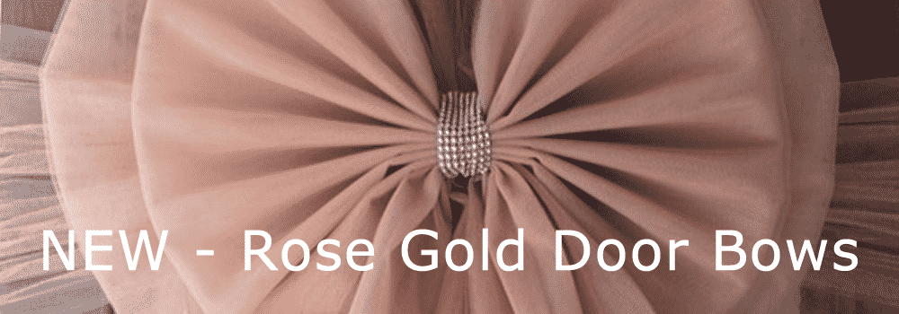 New Rose Gold Door Bows Next Day Dleivery.fw