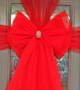 Red Deluxe Door Bow Decorations