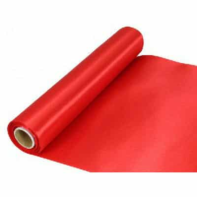 Red Extra Wide Satin Ribbon Roll