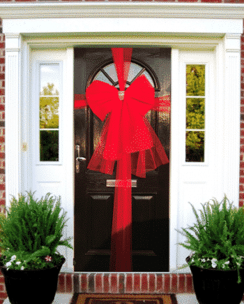 Door Bow Decoration Kit - Red