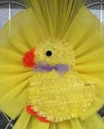 Easter Chick Deluxe Door Bows