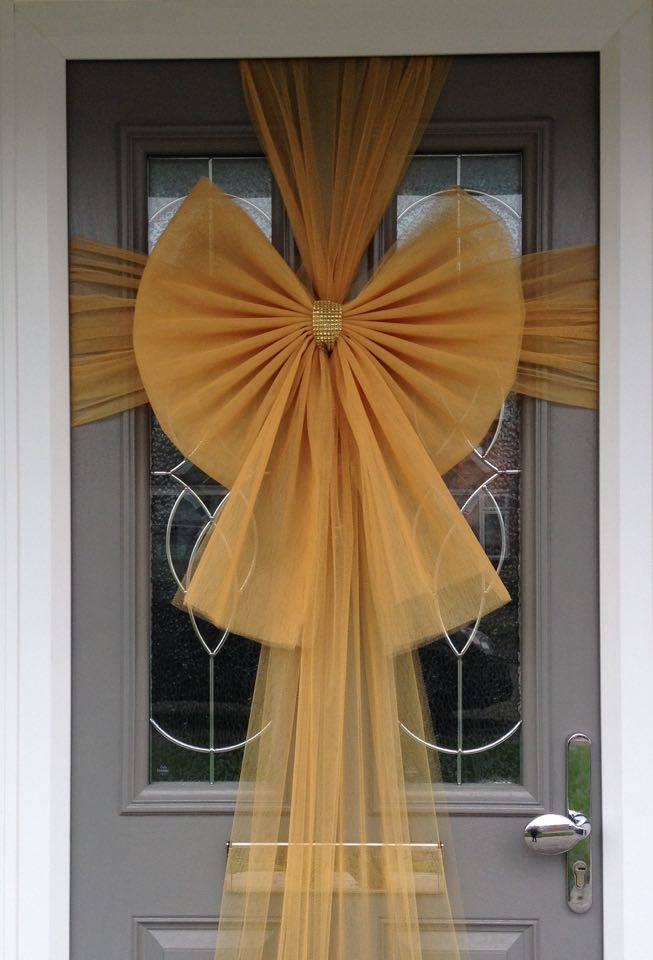 Gold Door Bow Decoration Kit Christmas Door Bows