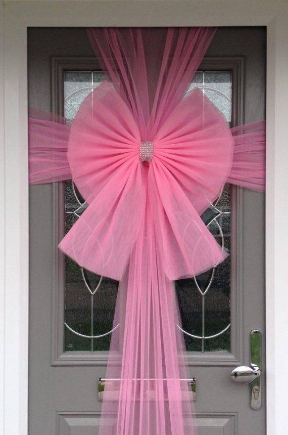 Baby Pink Door Bow