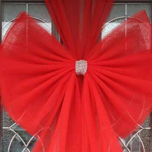 Red Standard Door Bow