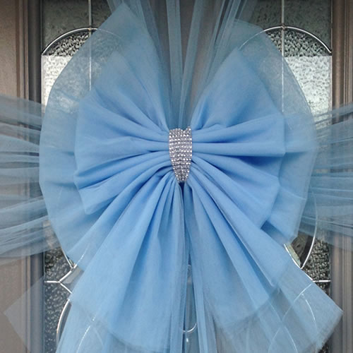 Baby Blue Deluxe Door Bow