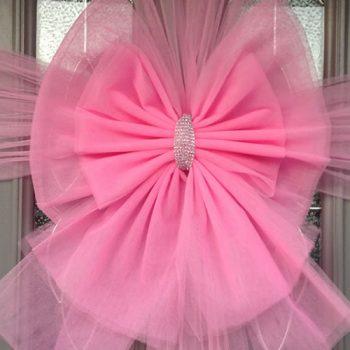Baby Pink Deluxe Door Bow