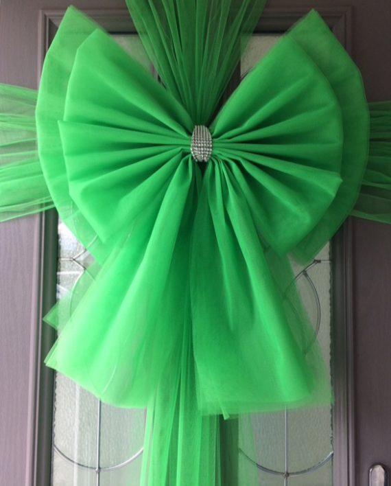 Green Deluxe Door Bow Decoration Kit Christmas Door Bows