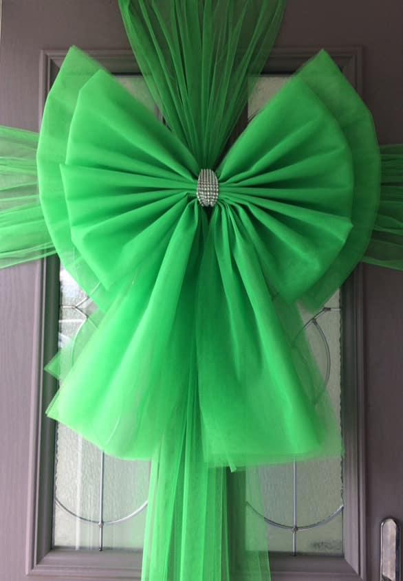 Green Deluxe Door Bow