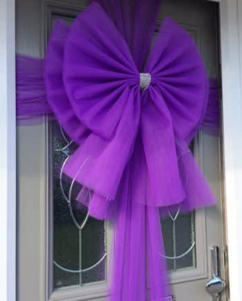 Purple Deluxe Door Bow