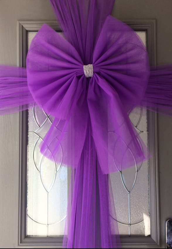 Purple Door Bow