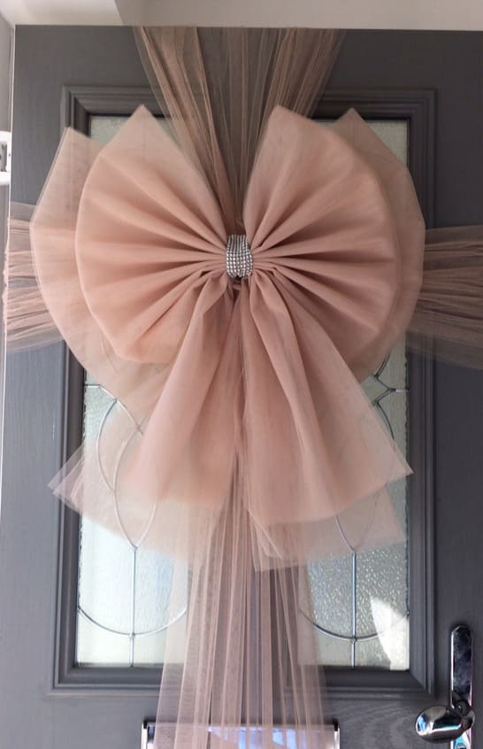 Rose Gold Deluxe Door Bow & Rose Gold Deluxe Door Bow Decoration - Christmas Door Bows