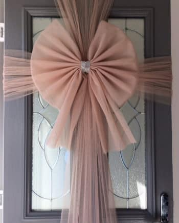 Rose Gold Door Bow