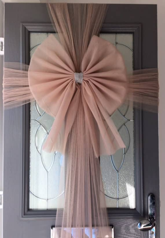 Rose Gold Door Bow