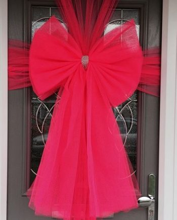 Hot Pink deluxe Door bow
