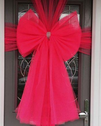 Hot Pink deluxe Door bow