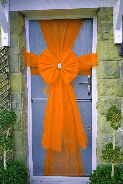 Standard Orange Door Bow