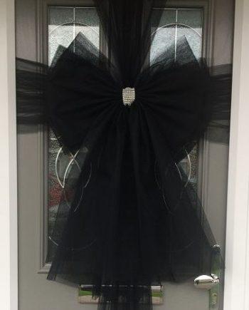 Black Deluxe Door Bow Decoration Kit