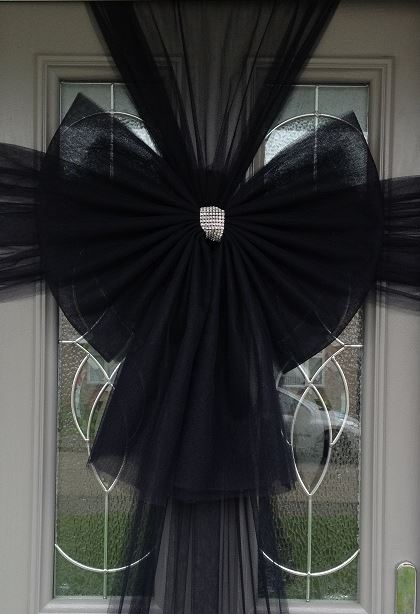 Black Door Bow Decoration