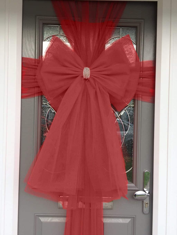 Burgundy Door Deluxe Bow Decoration Kit Christmas Door Bows & Decorate Your Door and Windows | Door and Window Design ...