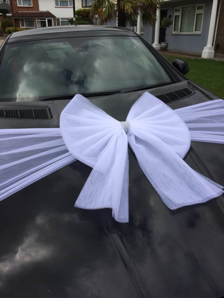 White Organza Car bow