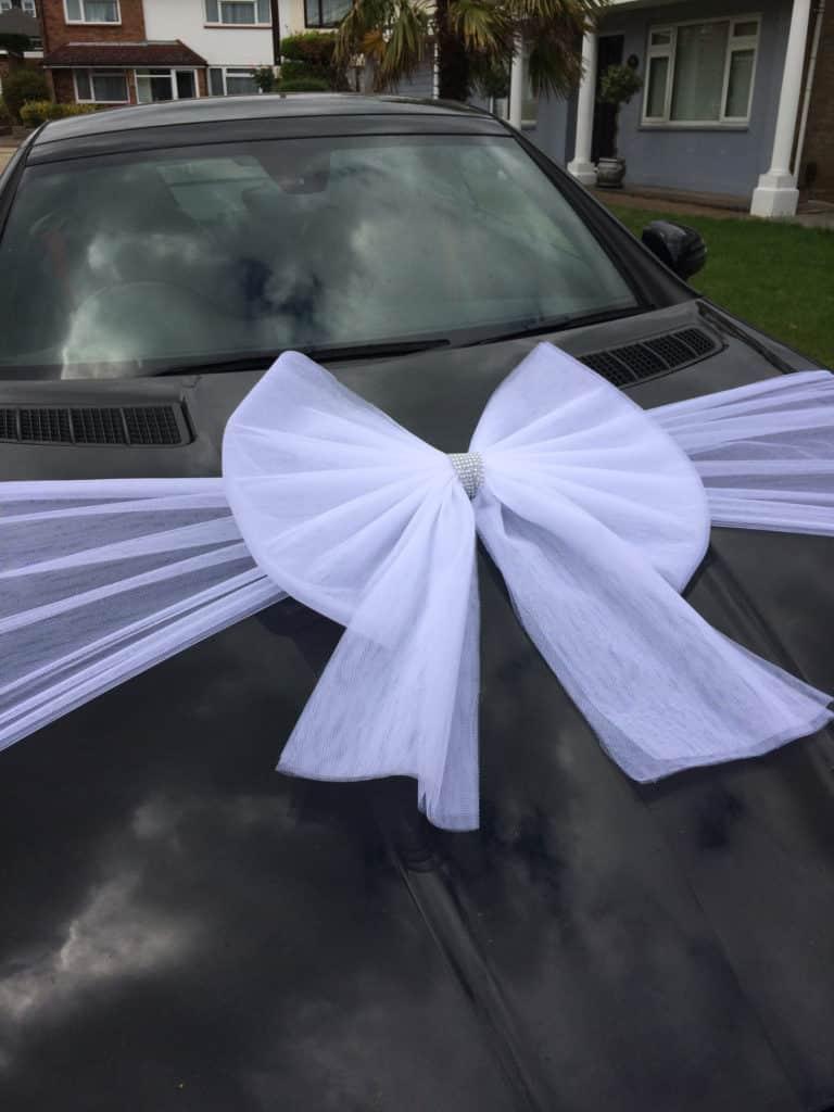 White Organza Car bow
