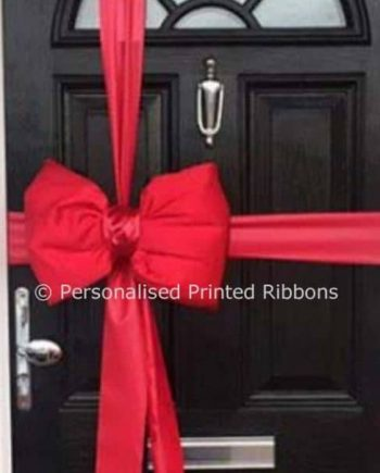 Red Satin Padded Door Bow Decoration Kit