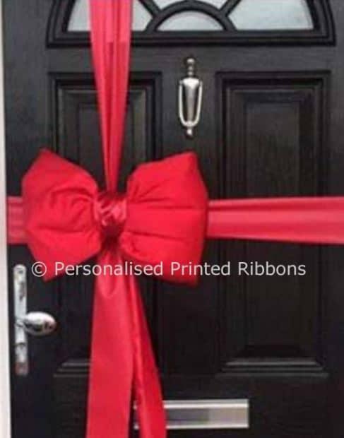 Red Satin Padded Door Bow Decoration Kit