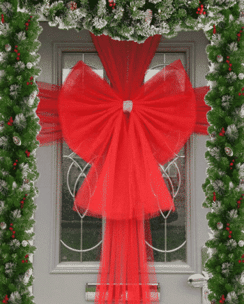 Red Door Bow Decoration Kit