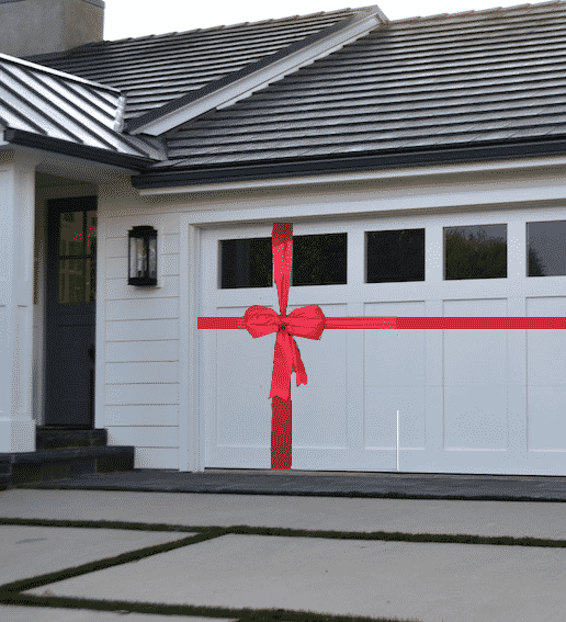 Red Garage Bow Decoration Kit