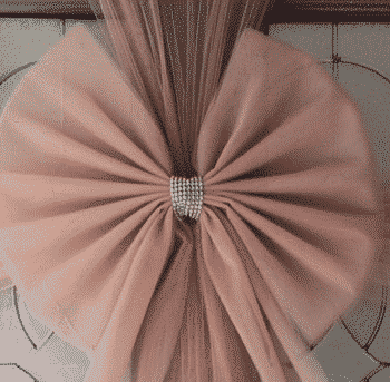 Rose Gold Christmas Door Bows