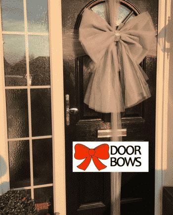 Door Bow Decoration Kit - Silver