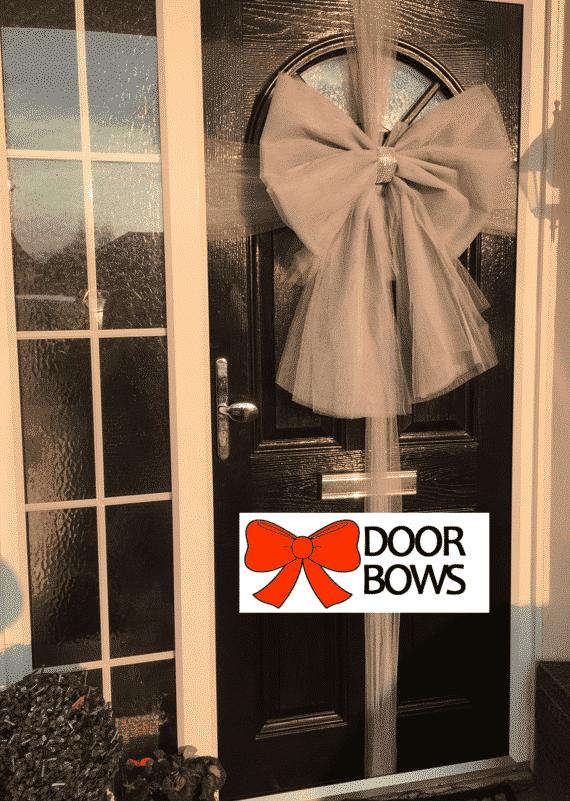 Door Bow Decoration Kit - Silver