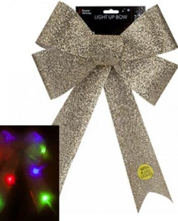 Gold Light Up Bows