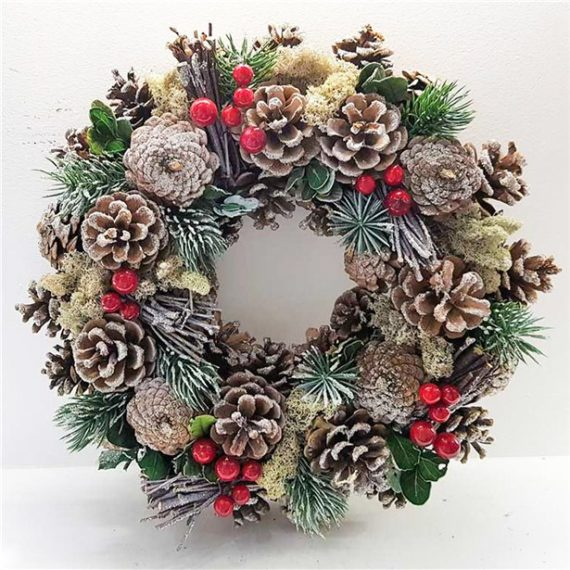 Frosty Woodland Door Wreath