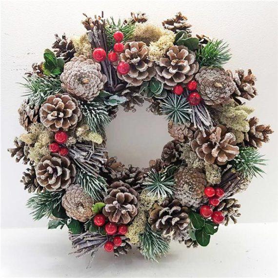 Frosty Woodland Door Wreath