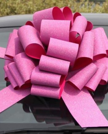 MEGA Glitter Pink Giant Car Bow