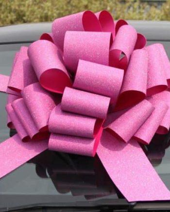 MEGA Glitter Pink Giant Car Bow