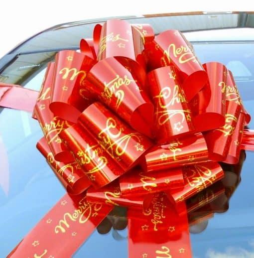 MEGA Merry Christmas Giant Car Bow