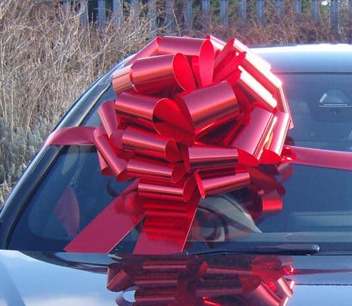 MEGA Metallic Red Giant Car Bow