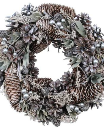Silver Cloud Door Wreath