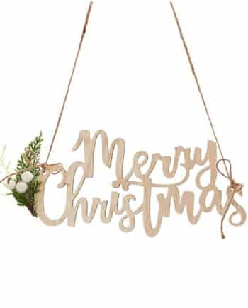 Wooden Merry Christmas Sign