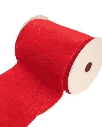 Red Velvet Wired Edge Ribbon